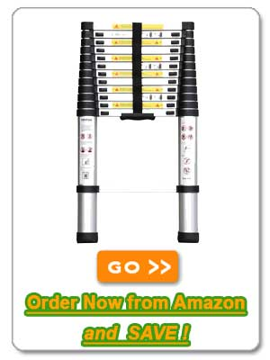Ollieroo Telescoping Aluminum Extension Ladder
