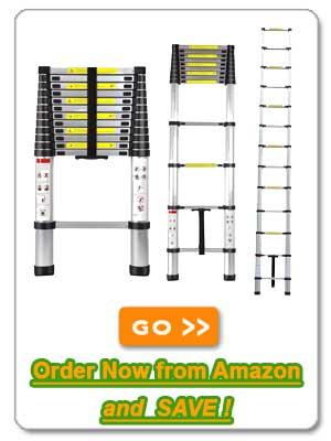 12.5' Aluminum Telescopic Loft Ladder