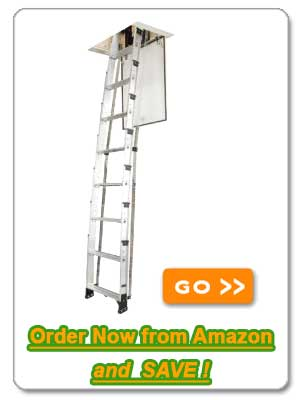 Werner AA8 250-Pound Duty Rating Televator Aluminum Universal Telescoping Attic Ladder, 8-Foot